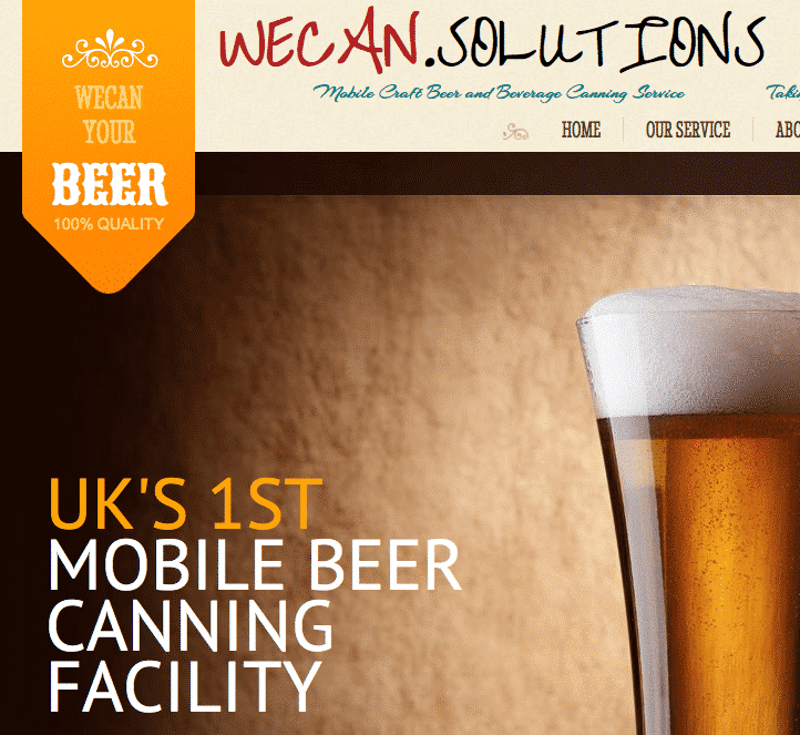 Mobile beer canning in UK